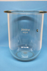 Kimax 2000ml Glass Beaker With Designed Indented Dimple On Side Flask Usa