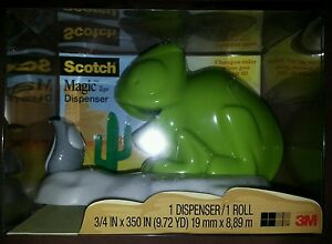 Scotch Magic Tape Dispenser Chameleon Changes Color W 1 Roll Of Tape New