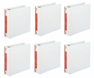 6 pack 1 5 D ring 3 ring Binder White School Office Inch View Sheet Paper Three