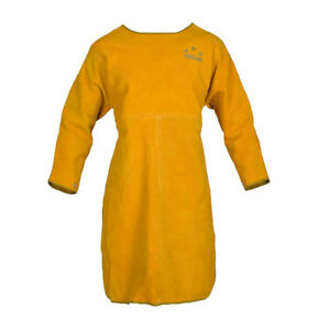 Welding Long Coat Apron Protective Clothing Apparel For Welder 100cm Yellow