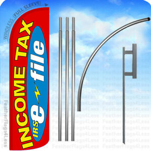 Income Tax Irs E file Windless Swooper Flag 15 Kit Feather Banner Sign Rq