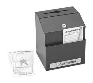 Suggestion Box In Black Finish id 37007