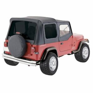 Rt Off Road Soft Top New Black Jeep Wrangler 1987 1995 99415 Rt10015t