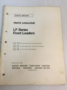 Case David Brown Tractor Lf Series Front Loaders Parts Catalog