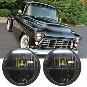 Pair 7inch Round Led Headlight Projector Hi lo Beam For Chevy Pickup Truck 3100