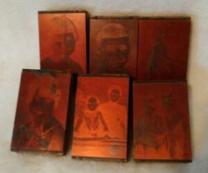 Vintage Copper Letterpress Printing Block 6 Photographs 1900 s