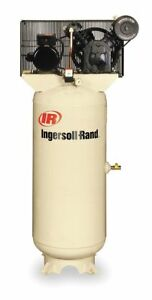 Ingersoll rand 3 Phase Vertical Tank Mounted 5hp Electric Air Compressor 80