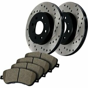 Stoptech 2 wheel Set Brake Disc And Pad Kits Front New For Subaru 939 47005
