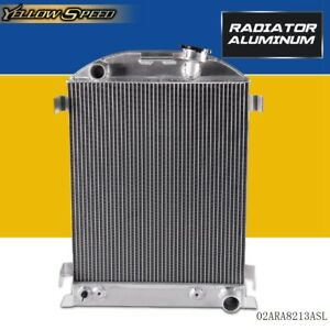 Aluminum Racing Radiator For Ford Model A Chevy V8 Upgrade 1930 1931