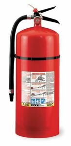 Kidde Dry Chemical Fire Extinguisher With 20 Lb Capacity And 19 To 22 Sec