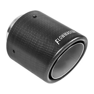 Flowmaster 15400 Carbon Fiber Exhaust Tip 4 In Rolled Angle Fits 2 5 In