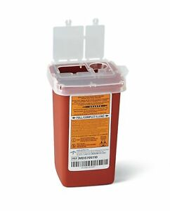 New Sharps Container Biohazard Needle Disposal 1 Qt Size