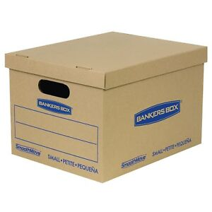 Bankers Box Smoothmove Classic Moving Boxes Tape free Assembly Small 15 X 12