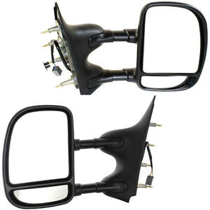 New Set Of 2 Lh Rh Side Non Heated Power Mirror Towing Fits Ford Econoline Van