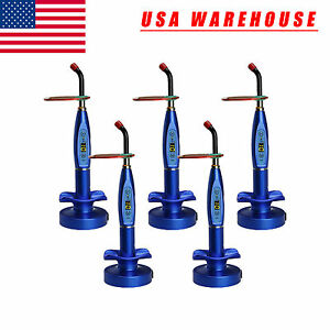 Usa 5 X Dental Wireless Cordless Led Curing Light Cure Lamp Dentist Blue Vlvxx