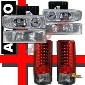 1995 2005 Chevy Astro Van Headlights Bumper Signal Led Tail Lights