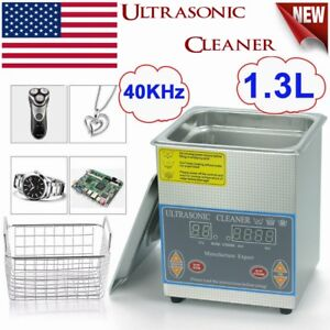 1 3l Digital Stainless Ultrasonic Cleaner Ultra Sonic Cleaning Timer Bath Tank