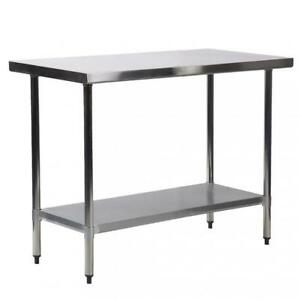 30 x36 Stainless Steel Kitchen Work Table Commercial Kitchen Restaurant Table