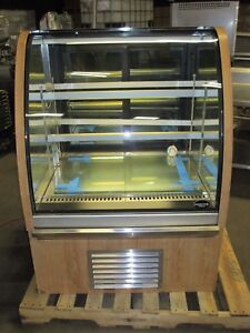 Millrock 3 Refrigerated Bakery Case 2 Shelves Lighted Wood Grain Tested Works