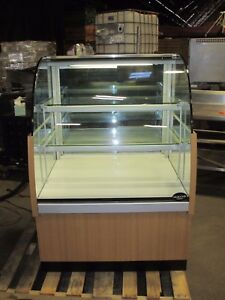 Millrock 3 Dry Bakery Case 2 Shelves Lighted Wood Grain Tested Works