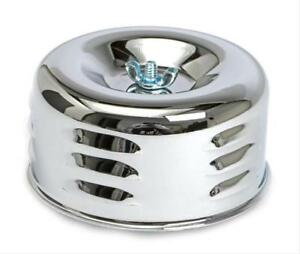 4 Chrome Louvered Air Cleaner 1 2 Barrel Carbs With 2 1 16 And 2 5 8 Neck