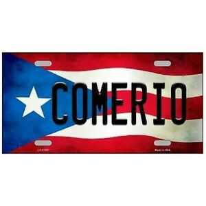 Comerio Puerto Rico Flag Background Novelty License Plate 6 X 12