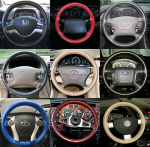 Wheelskins Genuine Leather Steering Wheel Cover For Mazda 3 6