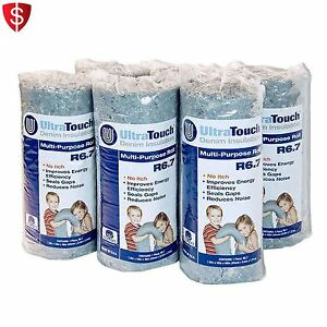 Denim Insulation Multi purpose Rolls Cotton Home Acoustic Sound Proofing 6 pack