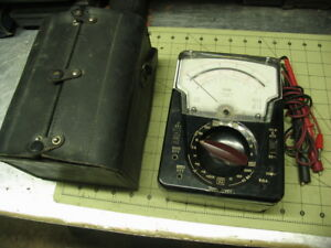 model 630 Apl Classic Vom multimeter Triplett With Nice Leather Case probes