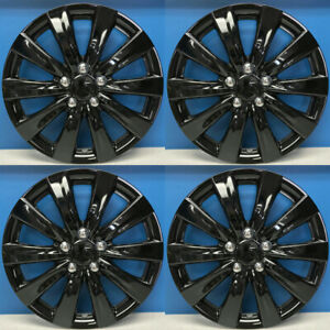 11 13 Toyota Corolla Style 1038 16blk 16 Black Hubcaps Wheel Covers New Set