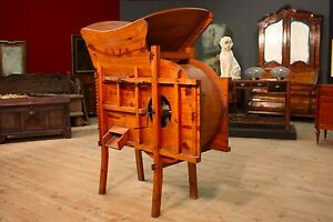 Chinese Furniture Agricultural Machine Wood Sculpture Antique Style Vintage 900