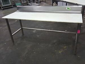 Stainless Steel Poly Trimming Table 6 X 28