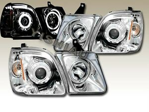Fit For 1998 2007 Lexus Lx470 Ccfl Halo Projector Headlights 01