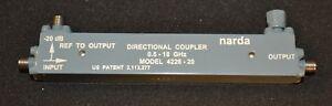 Narda 4226 20 Directional Coupler 500mhz 18ghz 20db Two Available Good