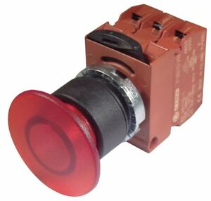 Ge Illuminated Push Button Operator Red Momentary Action 130vac dc Lamp