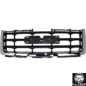 New Front Grille For Gmc Sierra 1500 07 13 Chrome Shell Black Insert Sle slt wt