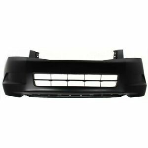 New Front Bumper Cover For Honda Accord Black 4cyl Sedan