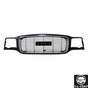 New Front Grille For Gmc Yukon Black