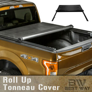 Roll Up Lock Soft Vinyl Tonneau Cover For 2004 2013 Ford F150 6 5ft 78in Bed