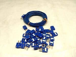 Large Lot Of Omega Thermocouple Type T Connectors And Wire