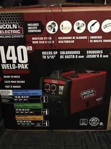 Lincoln Electric Weld pak 140hd Wire Feed Welder New