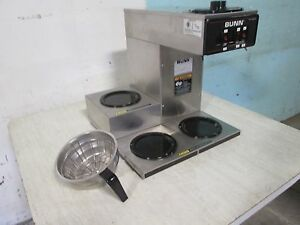 bunn Vp17 3 Commercial H d nsf pour over Coffee Brewer W 3 Pot Warmers