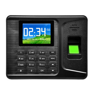 2 8 tft Biometric Fingerprint Password Attendance Time Clocks Recorder Reader