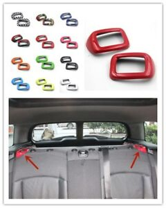 2 Pcs Candy Color Rear Seat Belt Cover Trim Mini Cooper Clubman F54 2015 Up