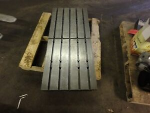 48 75 X 21 5 X 3 25 Steel Weld T slot Table Cast Iron Layout Plate 5 Slot