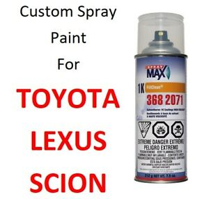 Custom Automotive Touch Up Spray Paint For Toyota Lexus Cars