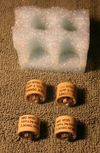 75pf 7500v Ceramic Transmitting Doorknob Capacitors Ht50 Set Of 4