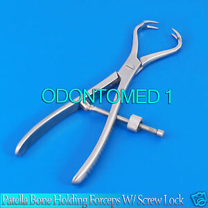Patella Bone Holding Forceps W Screw Lock Orthopedic 7 25