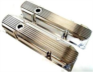Big Block Mopar Polished Finned Fabricated Valve Covers 383 400 426 440