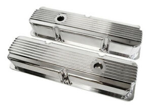 Ford Fe Polished Finned Fabricated Valve Covers 352 360 390 406 427 428